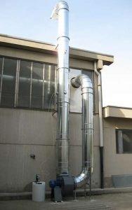 Applicazione 2: tubazione di scarico con impianto di deodorizzazione