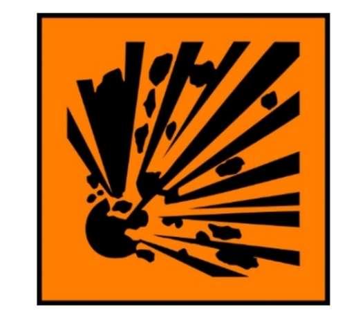 Simbolo pericolo esplosione