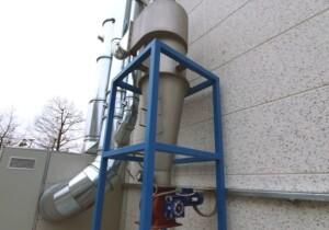 Ciclone posto al servizio di linee di produzione granuli PVC