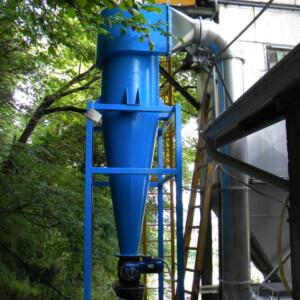 Ciclone separatore polveri da combustione metalli e piombo