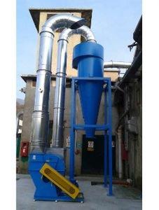 Ciclone e ventilatore centrifugo