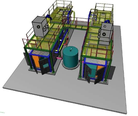 Sistema di abbattimento odori impianto trattamento acque