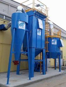 Sistema multistadio per filtrazione polveri ed abbattimento COV