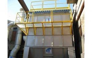 Filtro a maniche coibentato alta temperatura - settore metallurgia e fonderia