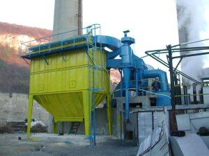 Filtro a manica coibentato per alte temperature - combustione biomasse
