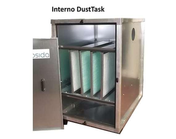 Interno del filtro a tasche DustTask