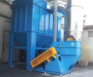 Filtro a cartucce e ventilatore centrifugo