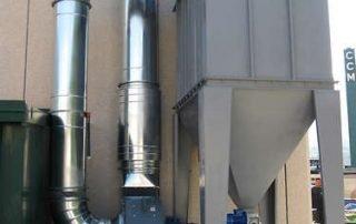 Applicazione 2: filtro a cartucce atex per depolverazione