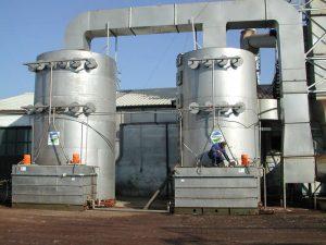Applicazione 2: installazione scrubber a doppio stadio
