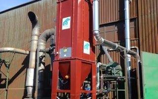 Applicazione 1: filtro a maniche ATEX per il trattamento di polveri esplosive