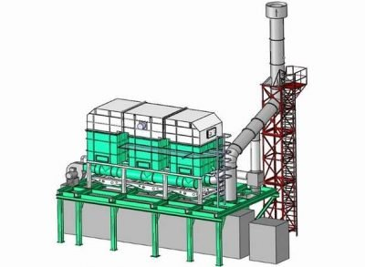 Thermal oxidizer structure