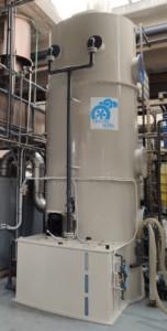 Scrubber per abbattimento fumi da produzione detergenti
