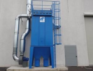 Sistema di aspirazione e filtrazione polveri da taglio tubi in gomma