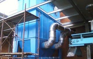 Applicazione 3: il filtro per separazione polveri potenzialmente esplosive3: Explosive dust collection filter