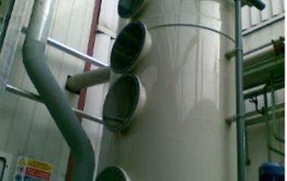 Scrubber a colonna in polipropilene per gas acidi