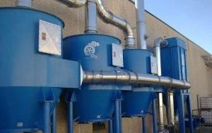 Applicazione 2: Depolveratore a maniche e tre filtri a carboni attivi finali