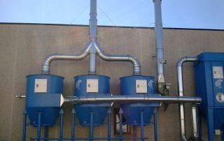 Applicazione 2: abbattimento solventi e filtrazione polveri