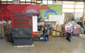 Caldaia a biomassa con multiciclone installato