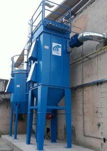 Applicazione 1: impianto ATEX doppio stadio per separazione polveri e trattamento COV