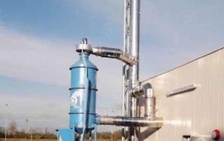 lavaggio fumi emissioni biomasse