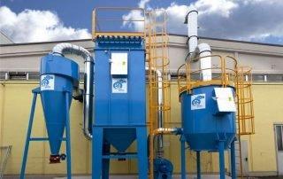 Applicazione 1: aspirazione e filtrazione multi-stadio polveri e COV direttiva ATEX