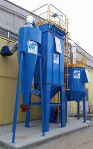 Applicazione 1: aspirazione e filtrazione multi-stadio polveri e VOC direttiva ATEX