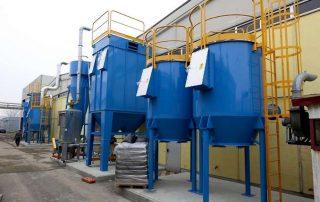 Applicazione 1: aspirazione e filtrazione multi-stadio polveri e solventi direttiva ATEX