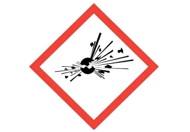 Simbolo pericolo di esplosione
