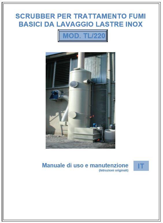 Copertina manuale Scrubber