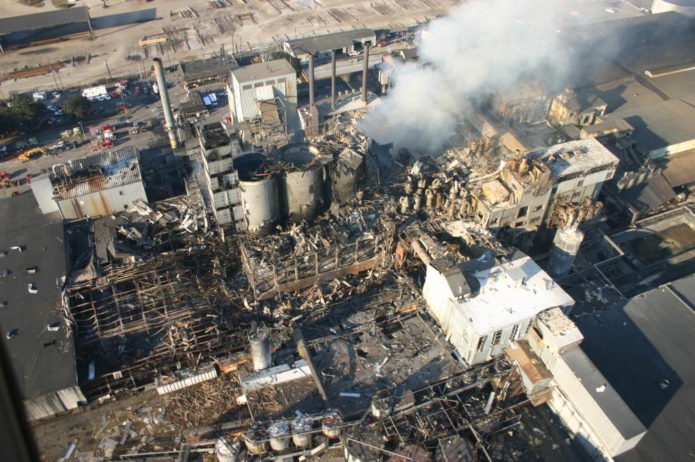 Esplosione di polveri in una raffineria di zucchero