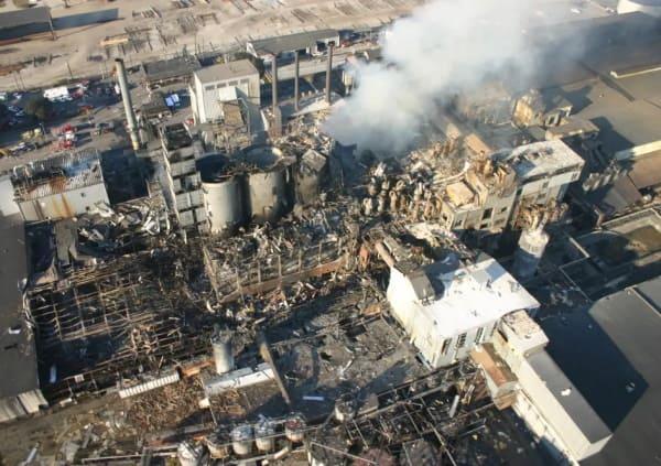 Esplosione polvere di zucchero raffineria